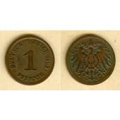 DEUTSCHES REICH  1 Pfennig 1909 G  ss-vz  selten