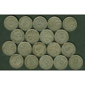 Lot: DEUTSCHES REICH  19x 5 Pfennig  ss-vz  [1911-1915]