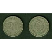 DEUTSCHES REICH 20 Pfennig 1887 A  ss-vz