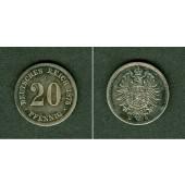 DEUTSCHES REICH 20 Pfennig 1875 D  ss-vz