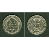 DEUTSCHES REICH 25 Pfennig 1911 D (J.18)  vz  selten