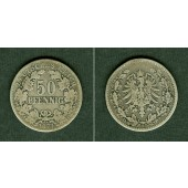 DEUTSCHES REICH 50 Pfennig 1877 B (J.8)  s-ss