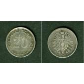 DEUTSCHES REICH 20 Pfennig 1873 A (J.5)  ss