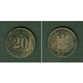 DEUTSCHES REICH 20 Pfennig 1876 A (J.5)  vz-st