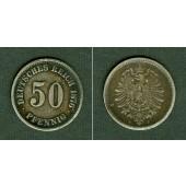 DEUTSCHES REICH 50 Pfennig 1876 J (J.7)  ss