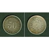 DEUTSCHES REICH 50 Pfennig 1876 E (J.7)  ss