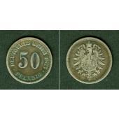 DEUTSCHES REICH 50 Pfennig 1875 C (J.7)  s-ss