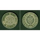 DEUTSCHES REICH 20 Pfennig 1887 E (J.6)  ss  selten