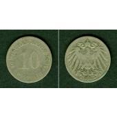 DEUTSCHES REICH 10 Pfennig 1891 G (J.13)  s  selten!