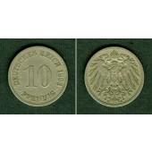 DEUTSCHES REICH 10 Pfennig 1893 E (J.13)  ss  selten!