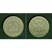 DEUTSCHES REICH 10 Pfennig 1894 E (J.13)  ss  selten!