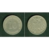 DEUTSCHES REICH 10 Pfennig 1896 G (J.13)  s-ss  selten!