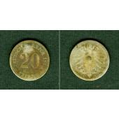 DEUTSCHES REICH 20 Pfennig 1873 H (J.5)  s  selten!