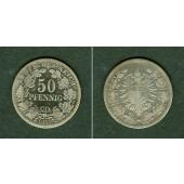 DEUTSCHES REICH 50 Pfennig 1877 C (J.8)  s+
