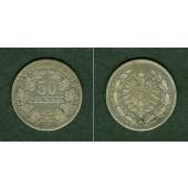 DEUTSCHES REICH 50 Pfennig 1877 D (J.8)  s+