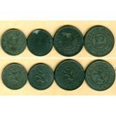 Lot: BELGIEN 4x 5+10 Centimes  vz  [1915-1916]