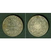 DEUTSCHES REICH 50 Pfennig 1877 A (J.8)  s