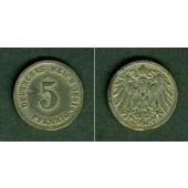 DEUTSCHES REICH 5 Pfennig 1891 G (J.12)  s  selten