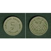 DEUTSCHES REICH 5 Pfennig 1892 E (J.12)  ss  selten