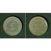 DEUTSCHES REICH 5 Pfennig 1892 E (J.12)  s-ss  selten