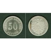 DEUTSCHES REICH 50 Pfennig 1875 F (J.7)  ss/ss-  selten