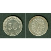 DEUTSCHES REICH 50 Pfennig 1876 C (J.7)  s-ss