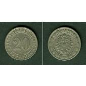 DEUTSCHES REICH 20 Pfennig 1887 D (J.6)  f.ss