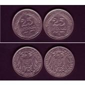 Lot: DEUTSCHES REICH  2x 25 Pfennig (J.18)  1910 D F  ss