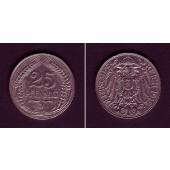 DEUTSCHES REICH 25 Pfennig 1912 J (J.18)  ss+  selten