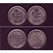 Lot: DEUTSCHES REICH  2x 25 Pfennig (J.18)  f.vz  [1910-1911]