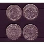 Lot: DEUTSCHES REICH  2x 25 Pfennig (J.18)  vz  [1911-1912]