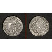 Ungarn Denar 1534 K-B  Ferdinand I.  f.vz