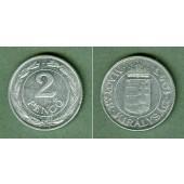 Ungarn 2 PENGÖ (Alu) 1943  vz