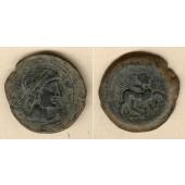 KELTEN  AE33 Bronze  Spanien Castulo 2.Jh.v.Chr.  ss+  selten!