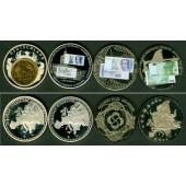 Lot: DEUTSCHLAND 4x Medaille  Abschied Deutsche Währung 2001  ST