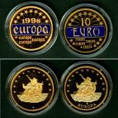 Lot: DEUTSCHLAND 2x Medaille 10 EURO  PP  [1997-1998]