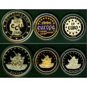Lot: DEUTSCHLAND 3x Medaille 10 EURO + ECU  PP  [1996-1998]