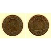 FRANKREICH 1 Centime 1855 W  ss-vz  selten