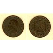 FRANKREICH 1 Centime 1857 K  s+  selten