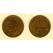 FRANKREICH 1 Centime 1886 A  ss+