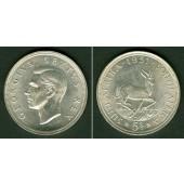 SÜDAFRIKA / SOUTH AFRICA 5 Shillings 1951 SILBER  vz-st