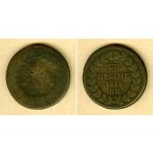FRANKREICH 1 Decime 1814 BB  s-/s