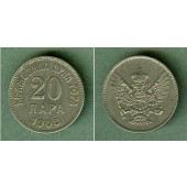 MONTENEGRO 20 Para 1908  f.vz  selten