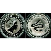 AUSTRALIEN 1 Dollar Lunar I Serie 2001  SILBER  ST