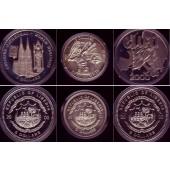 Lot:  LIBERIA 3x Gedenkmünzen 5 Dollars  ST  [2000]