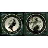 AUSTRALIEN 2 Dollars KOOKABURRA 1992  SILBER  ST