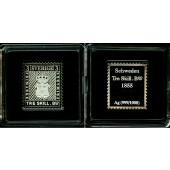 SCHWEDEN Medaille Tre Skill 1855 Briefmarke Stamp SILBER  PP  selten