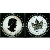 CANADA / KANADA 5 Dollars 2012  MAPLE LEAF F15  SILBER  ST  selten
