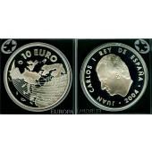 SPANIEN 10 Euro 2004  EU Erweiterung  SILBER  PP