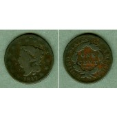 USA One Cent 1817 (13 Stars / Sterne)  s  selten